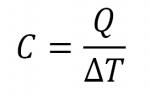 Equation Capacité thermique