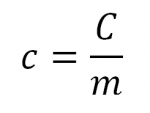 Equation Capacité thermique massique