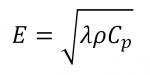 Equation Effusivité thermique