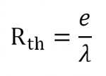 Equation Résistance thermique