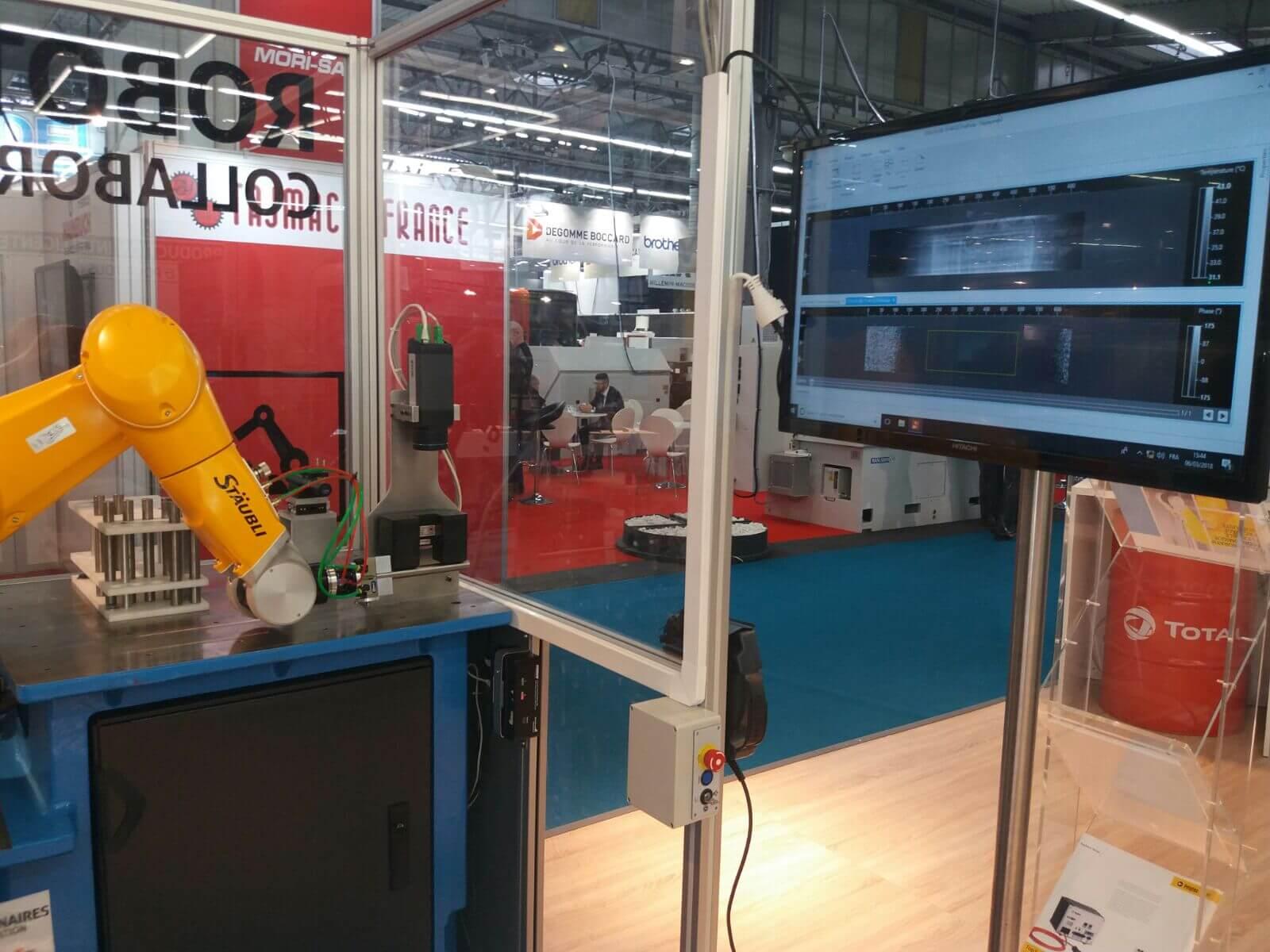 Notre démonstrateur de détection automatique de fissures par thermographie infrarouge présente au salon SIMODEC 2018