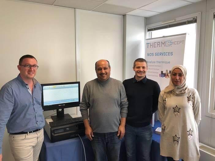 Notre première cliente tunisienne dans nos locaux pour une formation sur la mesure de conductivité thermique