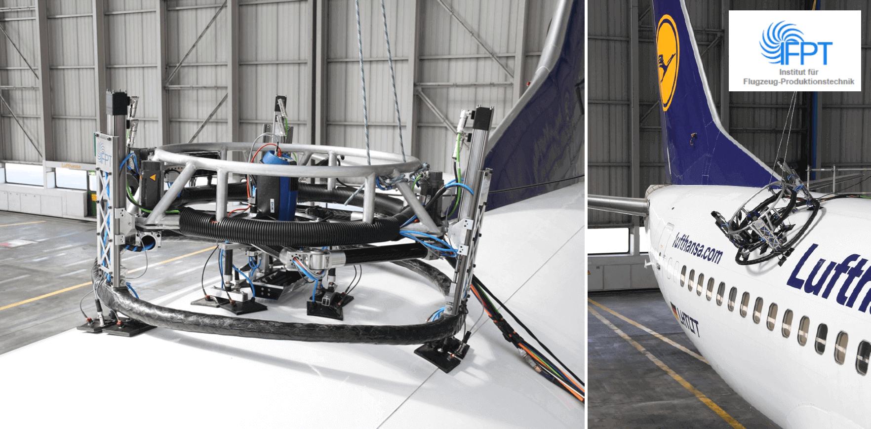 Lufthansa : contrôle 100% automatisé de rivet sur fuselage d'avion en aluminium