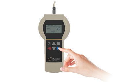 TPS-EFF : lancement essai pour mesure effusivité thermique des textiles