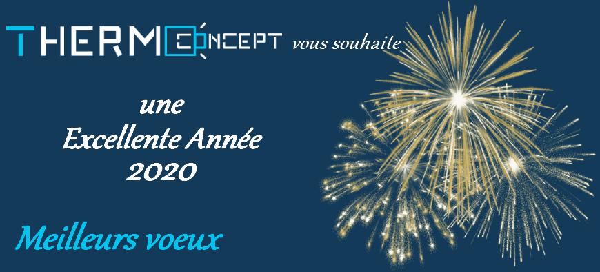 Bannière Meilleurs voeux 2020 - Thermoconcept